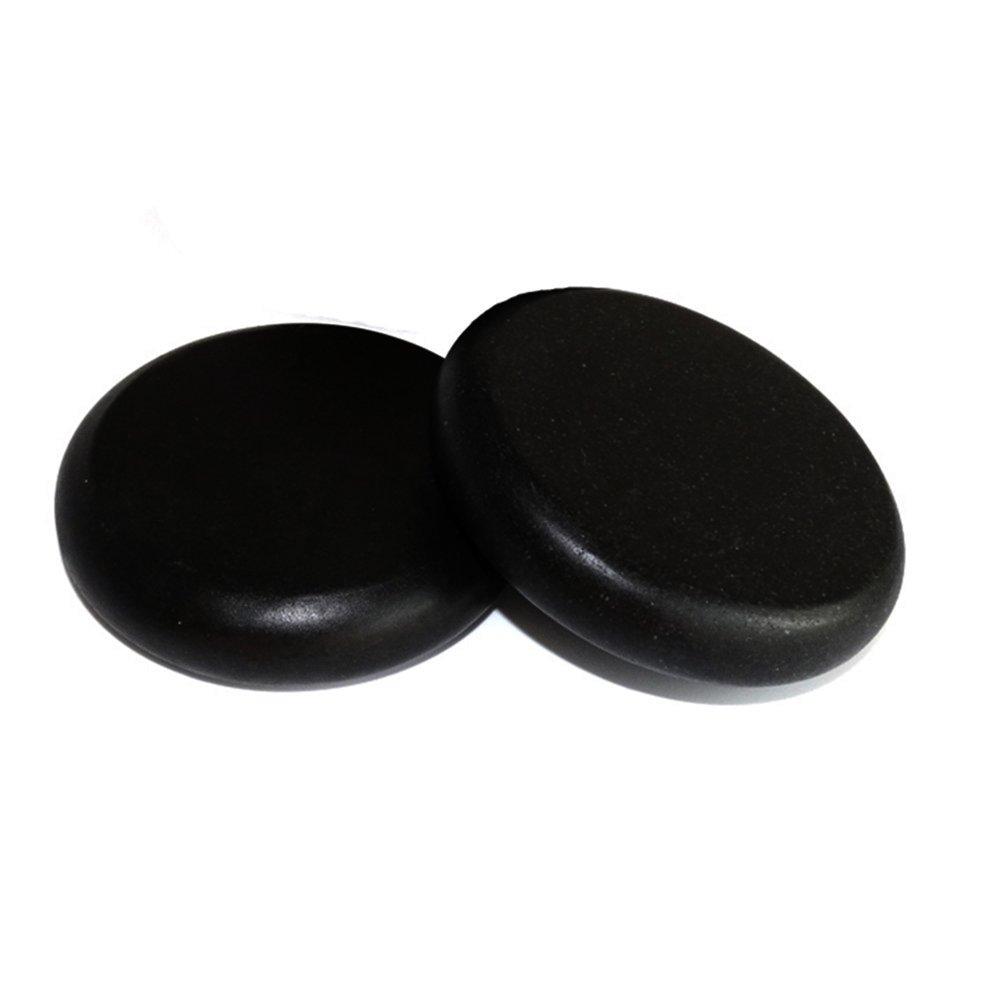 Lifetop 2pcs /lot Massage Large Stones Massage Lava Natural Stone Set Hot Spa Rock Basalt Stone ( 3.14 x 3.14 in )