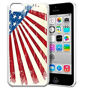 America Flag Design Pattern HD Durable Hard Plastic Case Cover for iphone 6 4.7