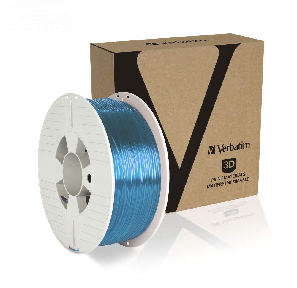 Verbatim 55056 - Bobina de filamento PET-G 1.75, 1 kg, color azul ...