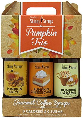Jordan's Sugar Free Skinny Syrups 3 Pack: Pumpkin Spice, Pumpkin Caramel, Pumpkin Cheesecake