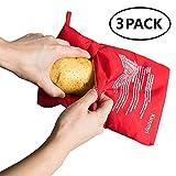 OGOUGUAN Microwave Potato Bag Baked Potato Microwave Baking Bag Perfect Potatoes Just in 4 Minutes! (3 Packs)