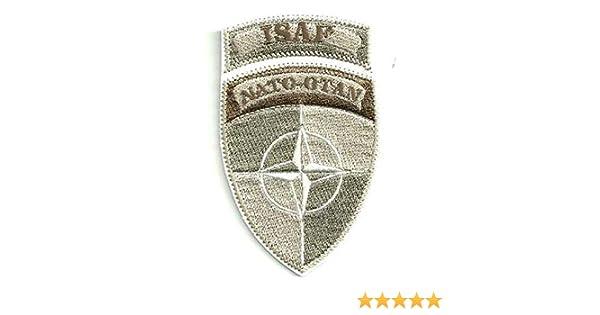 losparches Parche bordado termoadhesivo ISAF NATO OTAN ARIDO 5cm x 8,5cm: Amazon.es: Ropa y accesorios