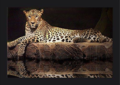 Fp Wood Painting (Jaguar (18x12 Giclee Art Print, Gallery Framed, Black Wood))