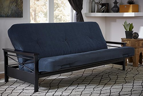DHP 6-Inch Independently Encased Coil Futon Mattress, Full Size, Blue