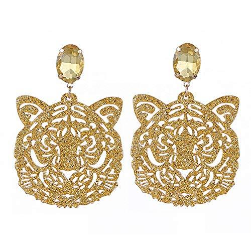 tiger head earrings - 3