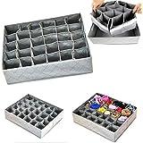 Vio-la Collapsible Drawer Divider 30 Grid Underwear Bra Socks Ties Divider Closet Container Storage Box Organizer