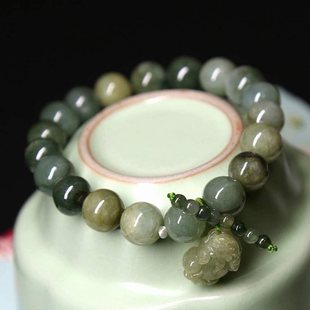 Mayanyan Aceite Natural Esmeralda Pulsera Mano Decorativa Verde pixiu Hombres y Pulsera Accesorios Regalo Colgante de Jade
