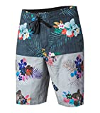 O'Neill Men's Catalina Stripe Boardshort, Black Floral - 33
