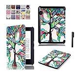 J Designer Smart Flip case cover for Amazon Kindle Voyage (Design-Leaves)