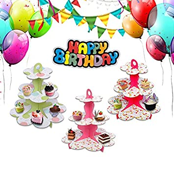 Generic D Cake Accessory Multi Layer Stand Fold Dessert Birthday Party Decorations