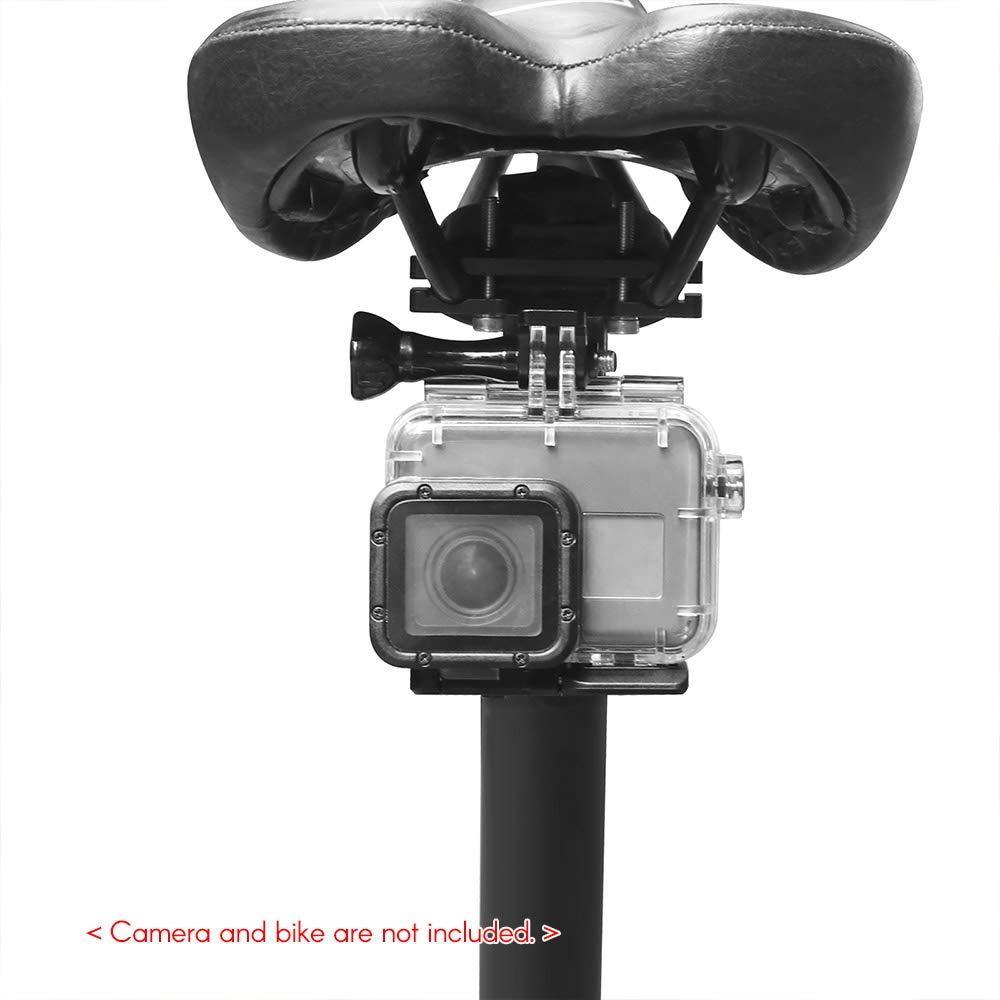 TPOTOO Supporto per binario da sella per bicicletta in lega di alluminio CNC per GoPro Hero 7//6//5//4 HERO per SJCAM YI AKASO Campark Crosstour e altre action cam 2018