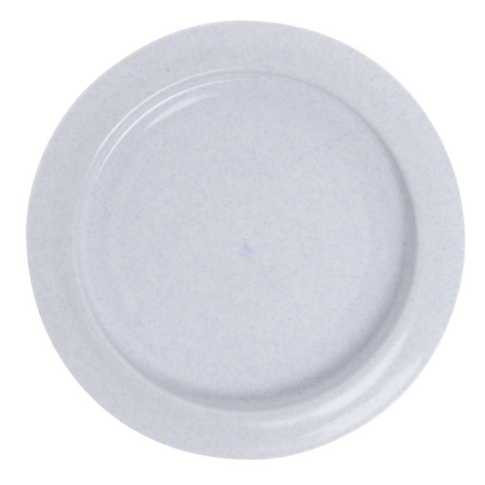 Maddak Ableware Blue Polypropylene Inner Lip Plate - 9'' Dia x 1'' H