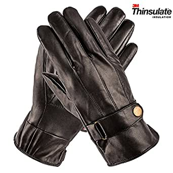 Amazon.com: Pierre Cardin Luxury Leather Gloves with Strap