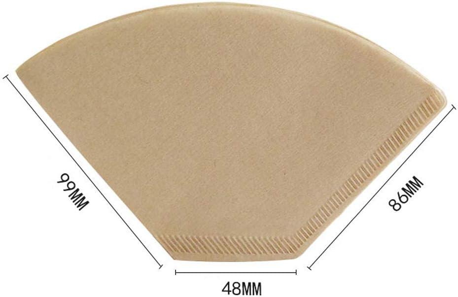 2-4 tazas Papel de filtro de caf/é Bestine 200 unidades filtros de caf/é desechables naturales apto para goteador de caf/é sin blanquear