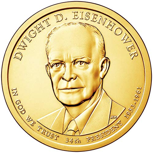 2015 D Position A BU Dwight D. Eisenhower Presidential Dollar Choice Uncirculated US Mint