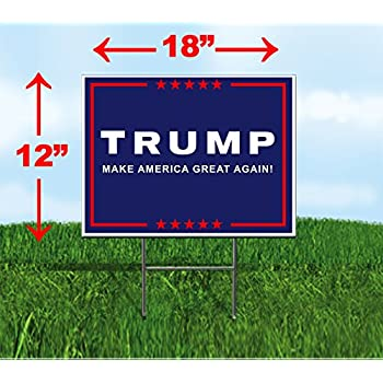 Amazon.com : GOP Mall Donald Trump & Mike Pence Yard Sign 24 X 18 ...