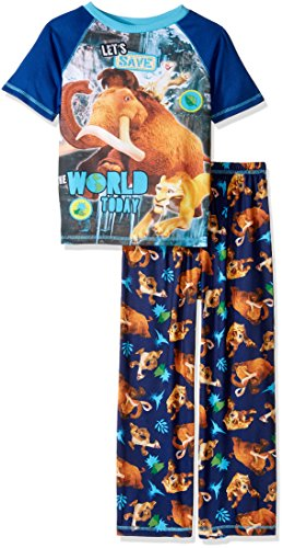 Ice Age Big Boys' 2pc Sleepwear Set, Blue, (Big Kids Ice Blue Apparel)