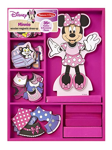 51q%2BDSlnxDL - Melissa & Doug Disney Minnie Mouse Magnetic Dress-Up Wooden Doll Pretend Play Set (35+ pcs)