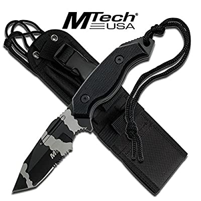 M-Tech Urban Camo Finish 5MM Thick Tanto Blade Custom Hunting Knife with Sheath