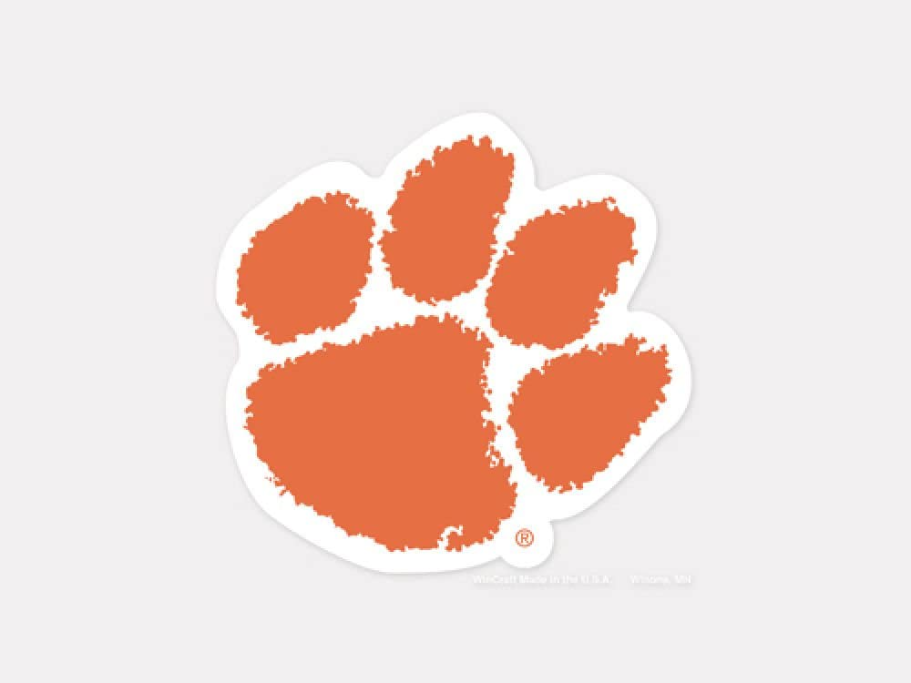 WinCraft NCAA Clemson Tigers 4x4 Perfect Cut White Decal One Size Team Color