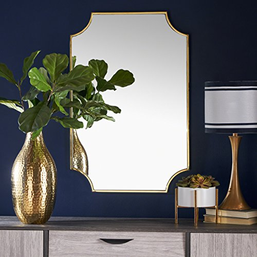 Estelle Glam Wall Mirror with Gold Finished Stainless Steel - Mirror Gold