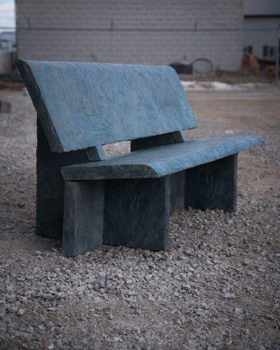 Heirloom Slate Bench Precast Concrete Mold Set - 6 ft