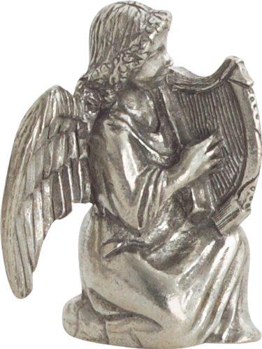 Danforth - Angel With Harp, Pewter Nativity Set (Pewter Nativity)