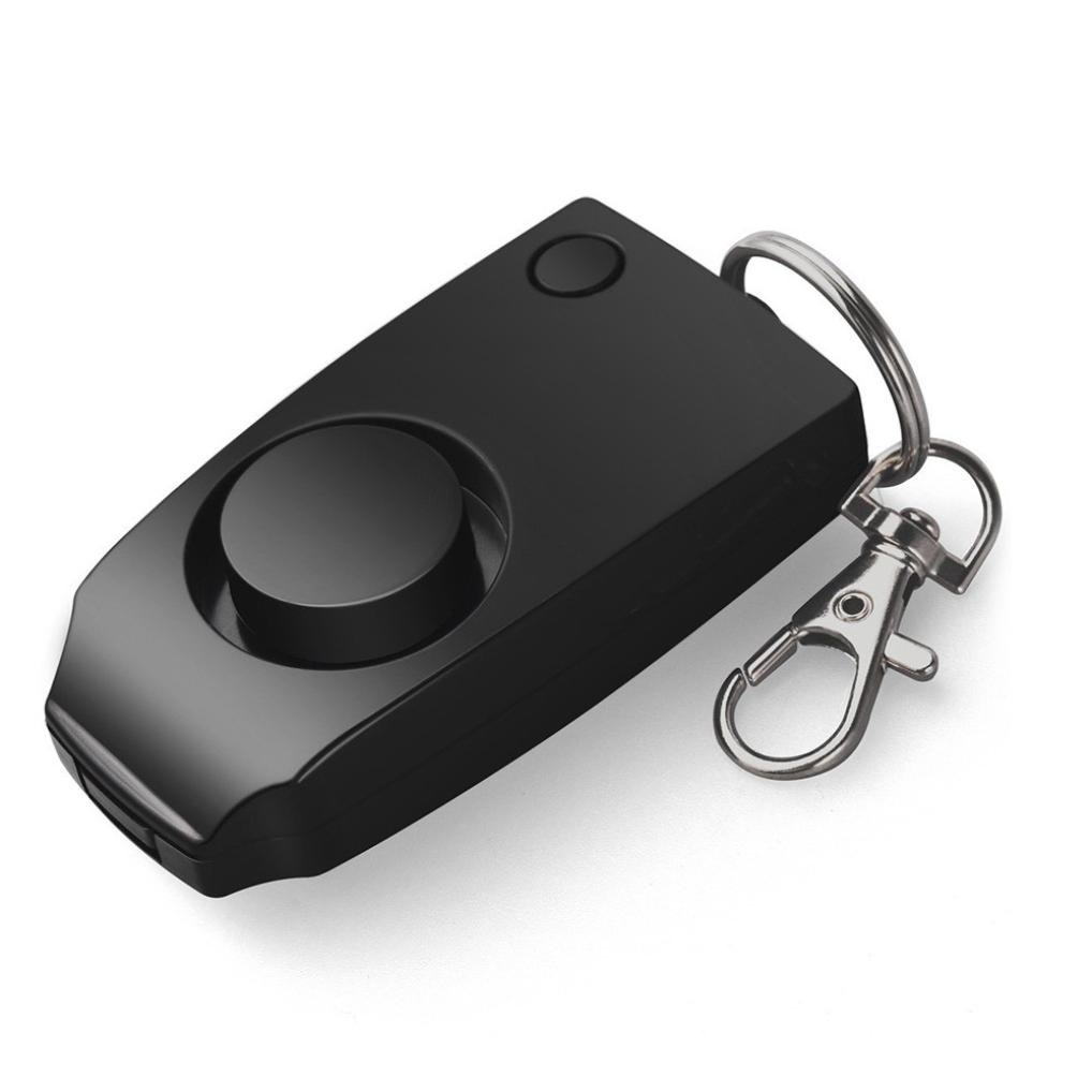Sacow Personal Alarm, 130dB Emergency Self Defense Personal Alarm Keychain with Backup Whistle for Children Girls Elder People(Battery Included)