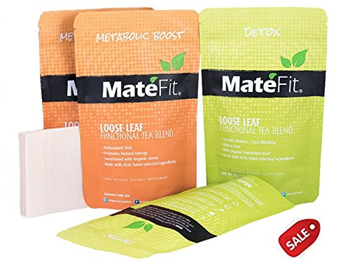 Teatox Detox Tea helps Weight Loss, 28 Days ULTIMATE By MateFit.Me with 100% Money Back Guarantee, Modern Antioxidant Powerhouse Infused Herbal Tea Blend with Body Cleanse and Appetite Control, with a
