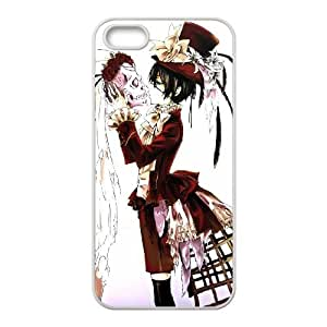 Black Butler iPhone5s Cell Phone Case White Gift pjz003_3376656