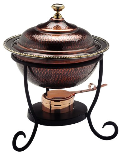 Round Copper Chafing Dish - Old Dutch 12