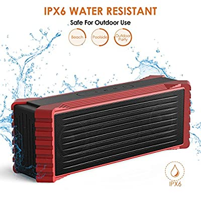 Olictar Waterproof Bluetooth Speakers, 20W Outdoor Wireless Portable Water Resistant Rugged Speaker Loud Sound with Enhanced Bass for Sports, Travel, Shower, Beach, Party, Poolside, Built-in Mic