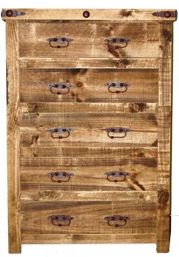Reclaimed Wood Chest Of Drawers, Western, Rustic, Tall Dresser