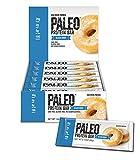 Paleo Protein Bar, Glazed Donut, Pack of 24 (12 x 2 cases), 2.12 oz (60g)