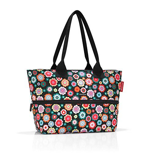 Marron De Liters diamonds Shopper Reisenthel Plage Flowers Multicolore 50 Cm 18 E1 happy Sac Mocha wz88qtT