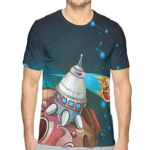 t Shirt Printer Cartoon,Spacecraft Planet Space Junior t Shirt S