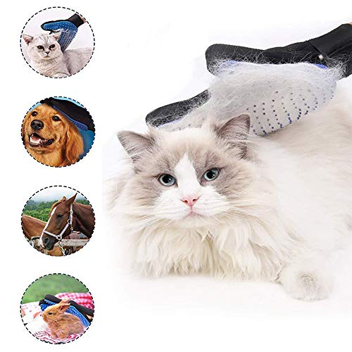 Senlvhuwai Pet Hair Remover Glove Brush – Massage Mitt with Enhanced Five Finger Design – Perfect for Dogs & Cats with…