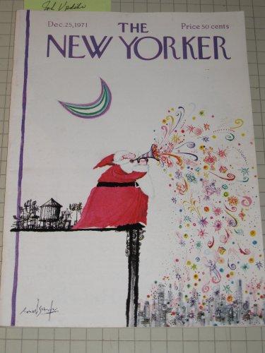1971 The New Yorker Magazine: Santa Claus Cvr - John Updike - Virgil Thomson - Brendan Gill - L.Woiwode