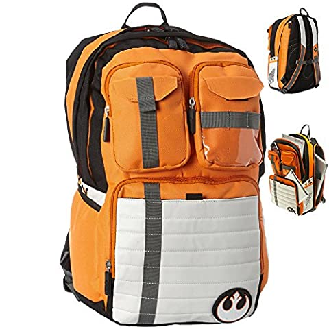 Booty Bay Star Wars Backpack Rebel Alliance Icon School Bags 19'' (Star Wars Rebel Bag)