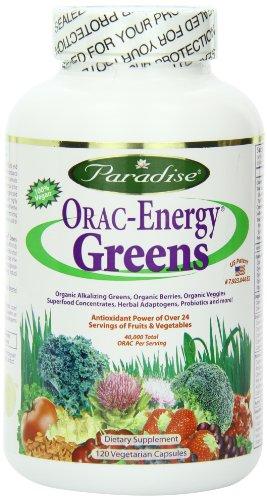 Paradise Herbs Orac Energy Vegetarian Capsules, Greens, 120 (Capsules Herbs Supplements)