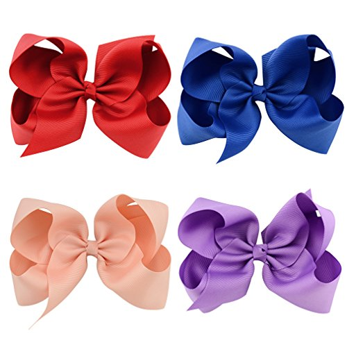 30 Pack Grosgrain Girls Hair Bows With Alligator Clips 6 Inch Boutique Big Rainbow Bows For Teens Kids Toddlers by Tobatoba (Image #7)
