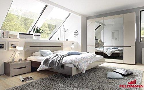 Schlafzimmer komplett 4-teilig 54900 sonoma eiche dunkel / sand grau ...