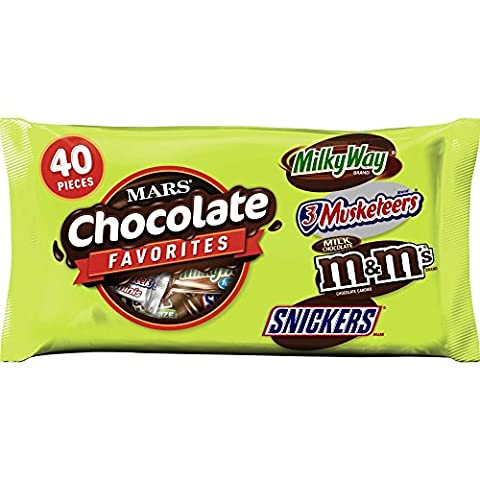 MARS Chocolate Favorites Variety Mix 40-Piece Bag, 17.7 Ounce (Pack of 16) - Fall Assorted Chocolates