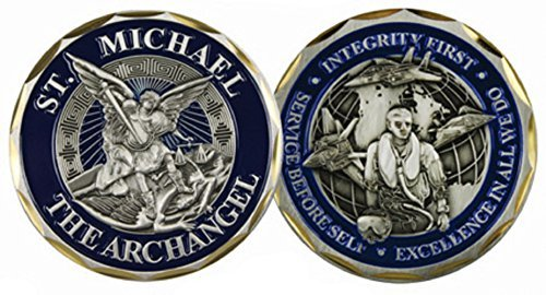 St. Michael the Archangel Airman Challenge Coin 3130 by Eagle Crest
