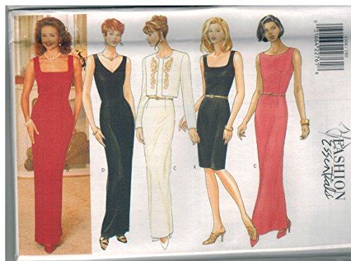 (4304 Uncut Butterick Misses Sewing Pattern Jacket Dress Evening Size 6 8 10)