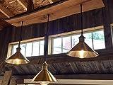 Tripple bronze shade pendant live edge chandelier