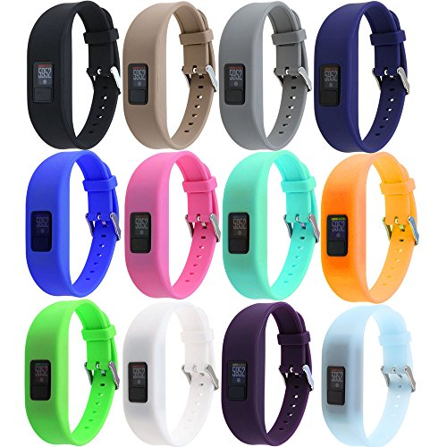 HWHMH Replacement Secure Band with Chrome Watch Clasp and Fastener Buckle for (3 Buckle)