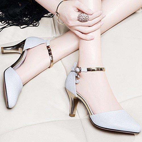 Fille Heel Chaussures High Amende Le Les Avec Et SHOESHAOGE Sandales Mot Chaussures EU35 Des Femmes Pour Pour cgqEAIUnf