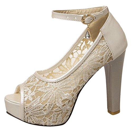 Sandales Beige VulusValas Ouvert Femmes Bout Chaussures wxvq7Yf1
