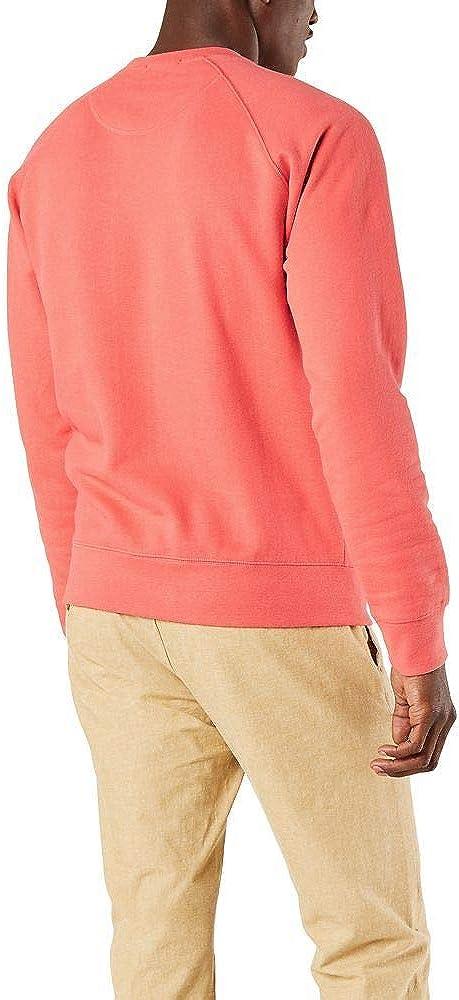 dockers Herren Alpha Crewneck Sweatshirt Henley Shirt Red Sun - Blaugrün Logo